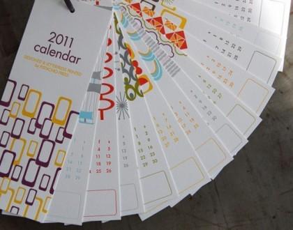 Un calendario 2011 di design per iniziare bene l'anno nuovo