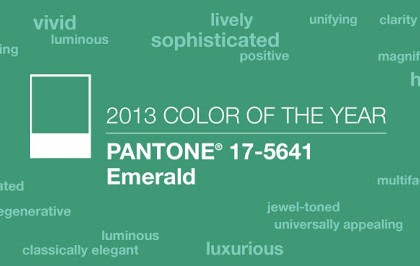 The 2013 Pantone's Color of the Year