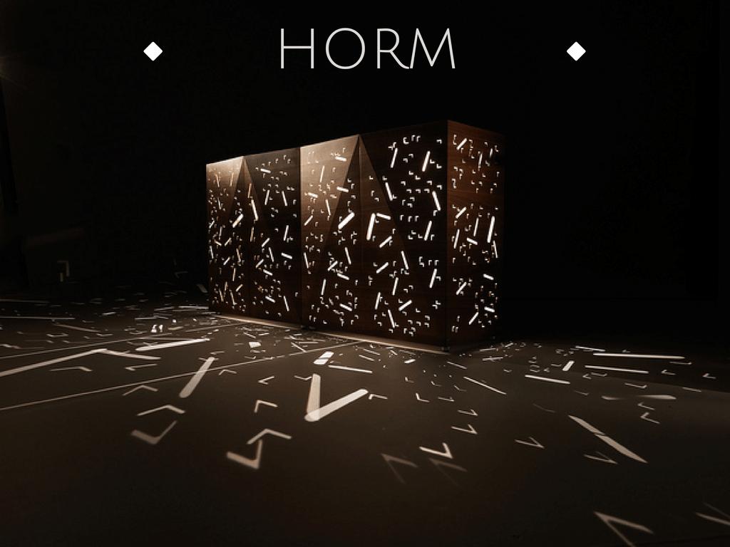 Tra arte e design:Horm