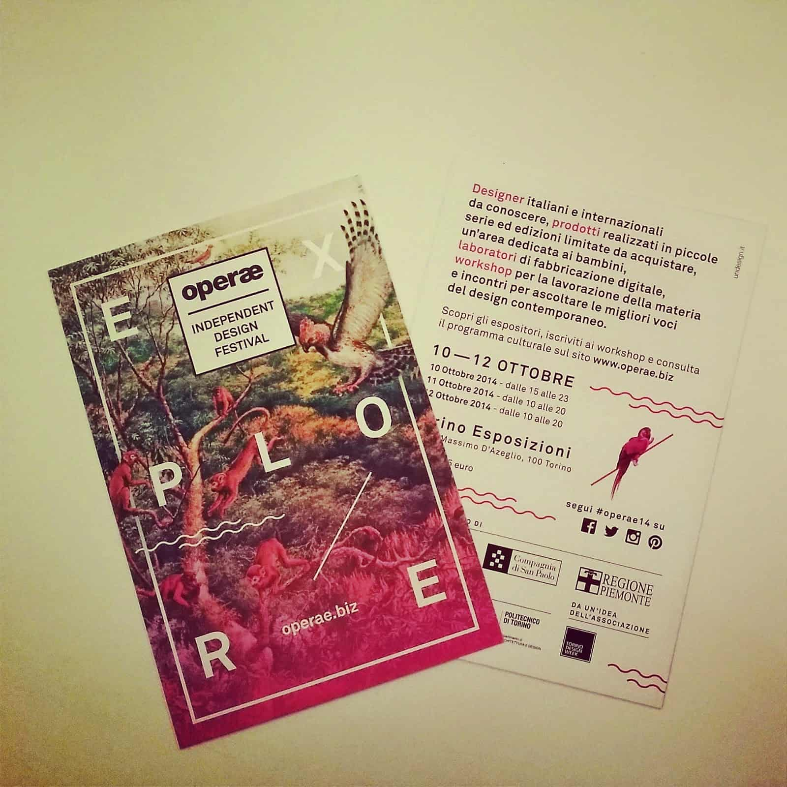 Operae:ritorna il festival del design indipendente