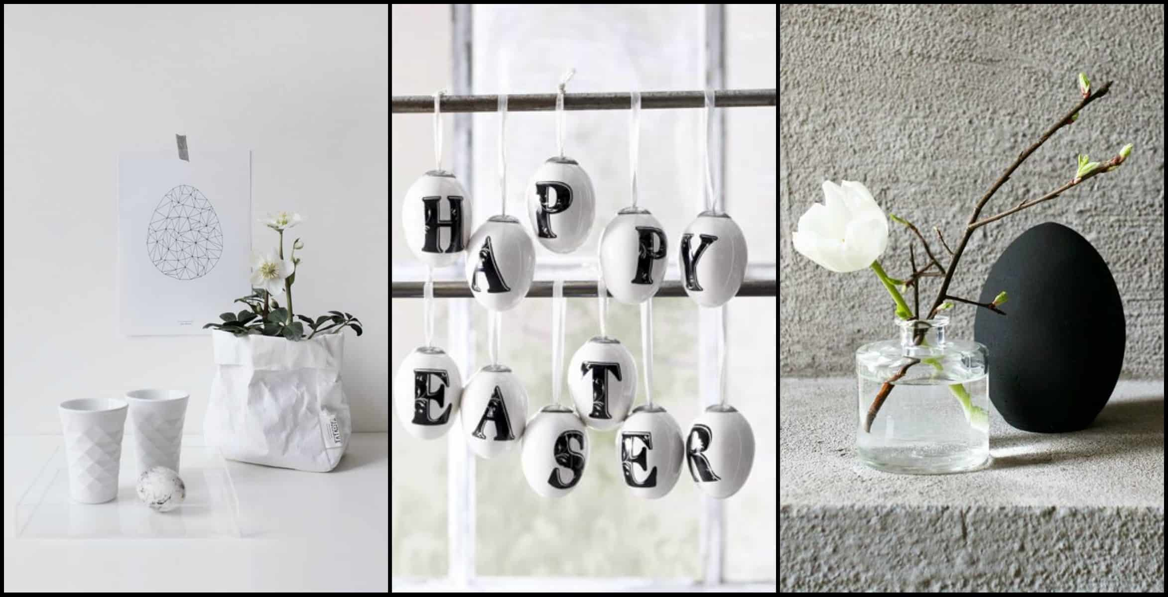 An black and white easter