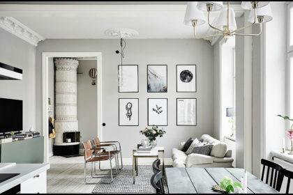 Una casa in bianco e nero