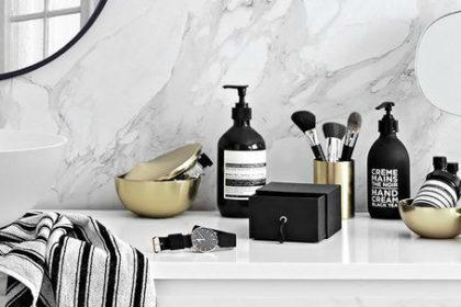 Bruzzoni: per un bagno in bianco e nero elegante e di design