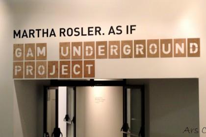 """As if"" Martha Rosler alla GAM"