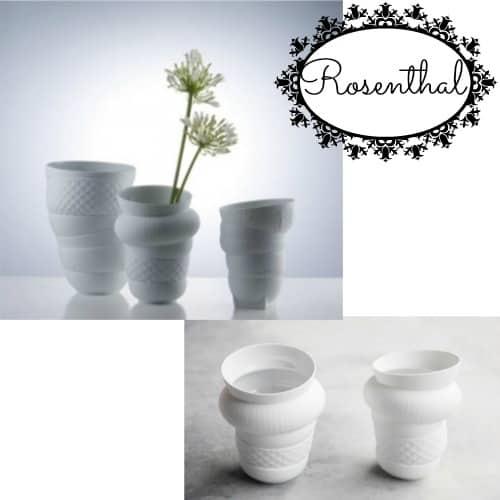 Spring: vases all white