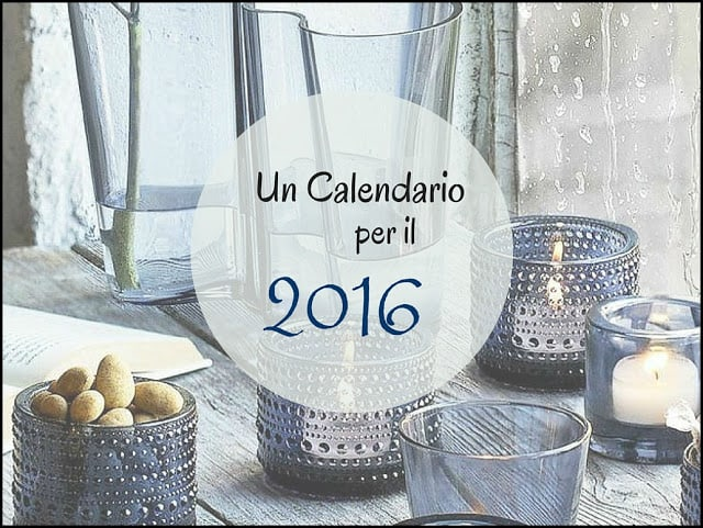 Design time #10: un calendario per il 2016