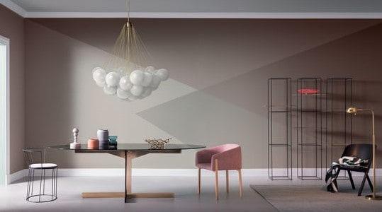 Trend 2018 pareti geometriche arscity for Immagini di pareti colorate