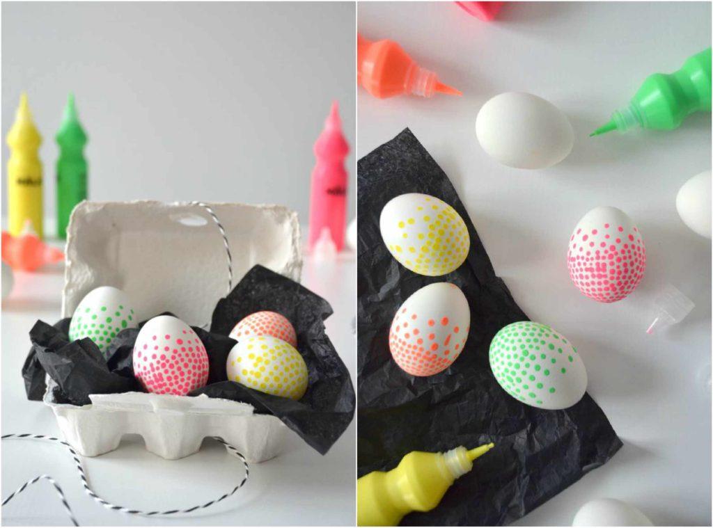 Decorazioni per la casa per Pasqua:10 dyi per realizzare uova di Pasqua super colorate e molto originali in maniera facile e veloce.