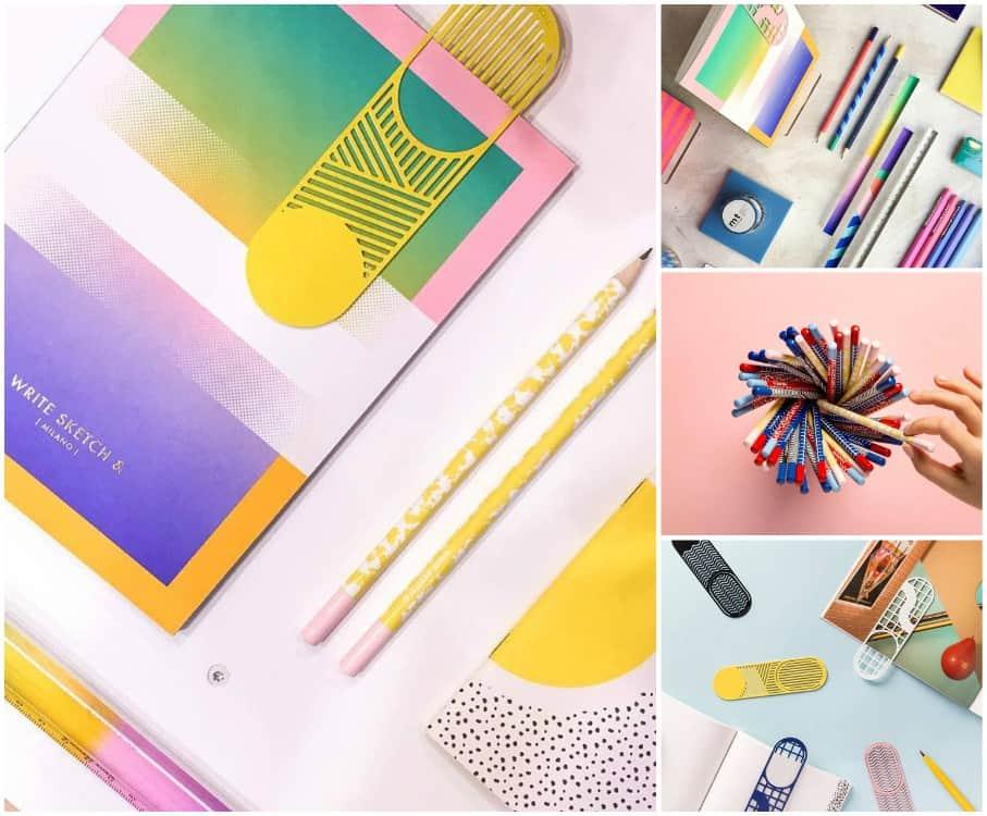 Cancelleria di design:5 siti che ho selezionato per voi dove trovare agende, set per la scrivania, quaderni, matite, penne, righelli, oggetti particolari.