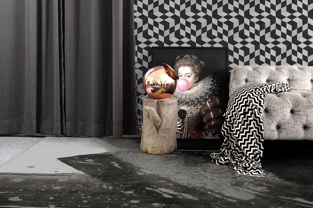 Mineheart è un brand alla ricerca di un senso di meraviglia negli oggetti e negli spazi quotidiani.Carte da parati e quadri dallo stile unico e surreale.