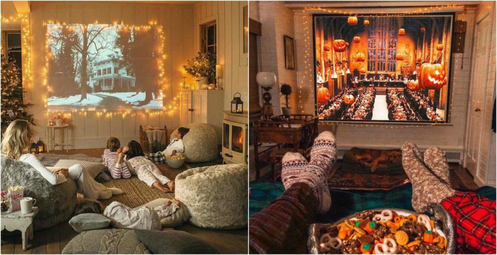 Il proiettore usato in casa per vedere film.