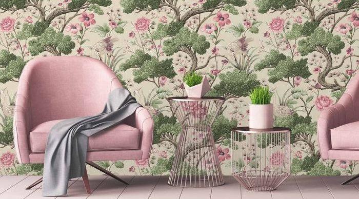 Rosa e verde: incontro di colori nella nostra casa