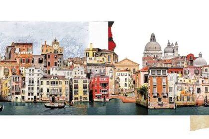 I collage artistici di Francesca Sacco per viaggiare stando a casa